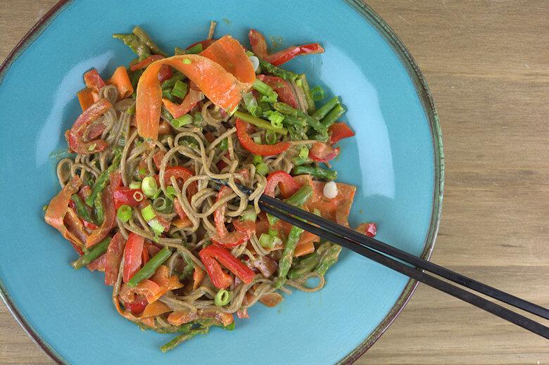Soba Noodles Vegetables Peanut Sauce3
