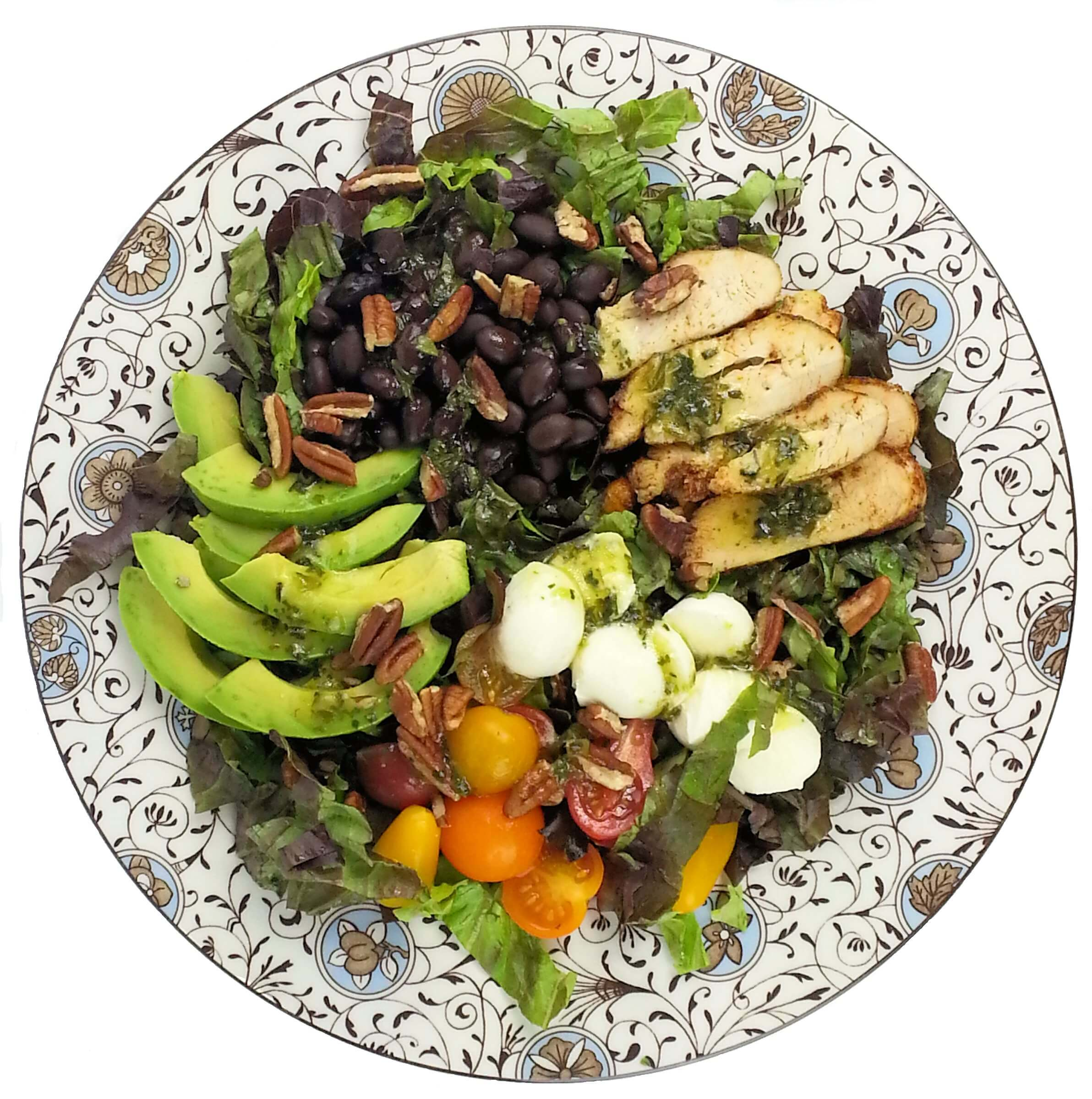 Top down picture of Southern Grilled Chicken Meal Salad