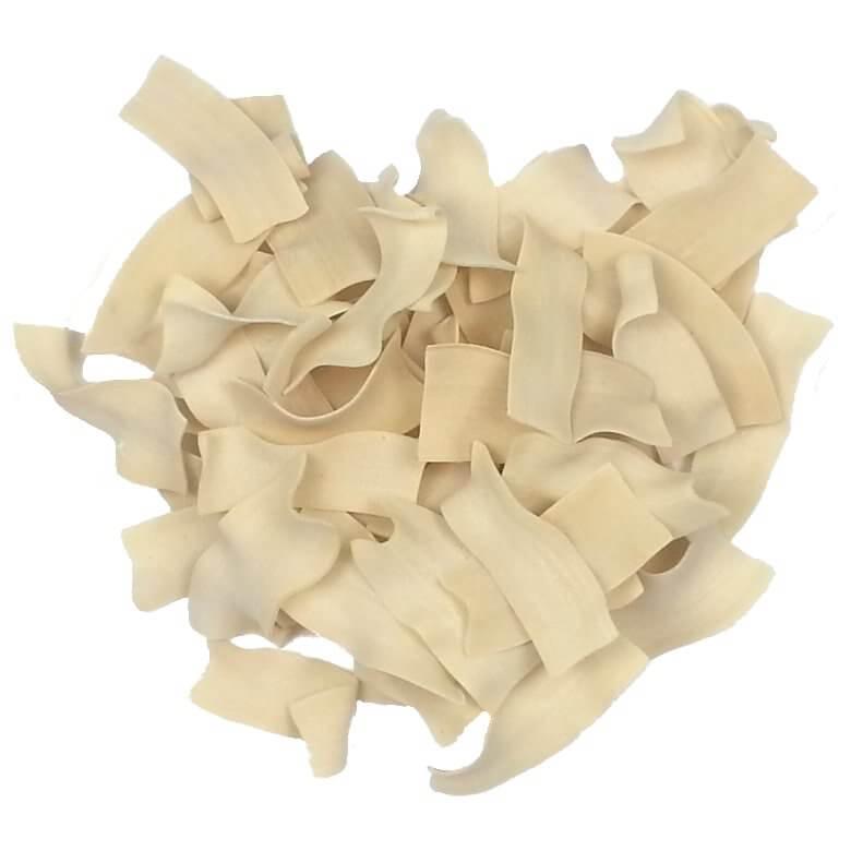 Picture of uncooked Straccetti Pasta
