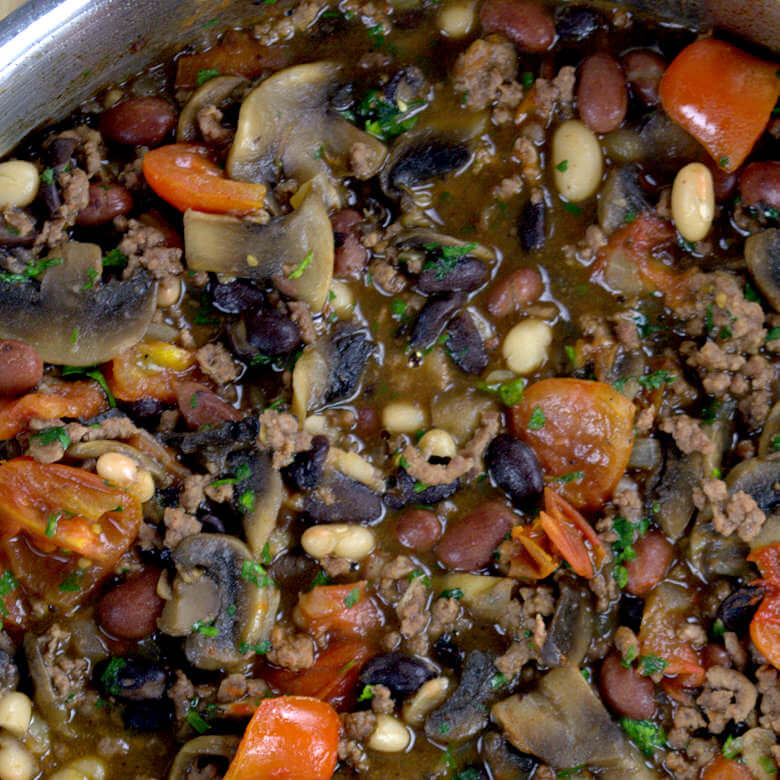 Three Beans Bake Tomato Beef4.