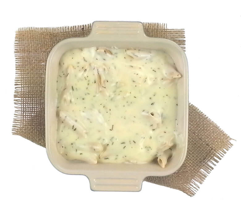 Picture of Three European Cheese Penne before it goes into the oven