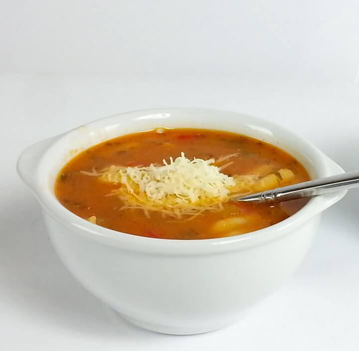 Tomato Chicken Pasta Soup