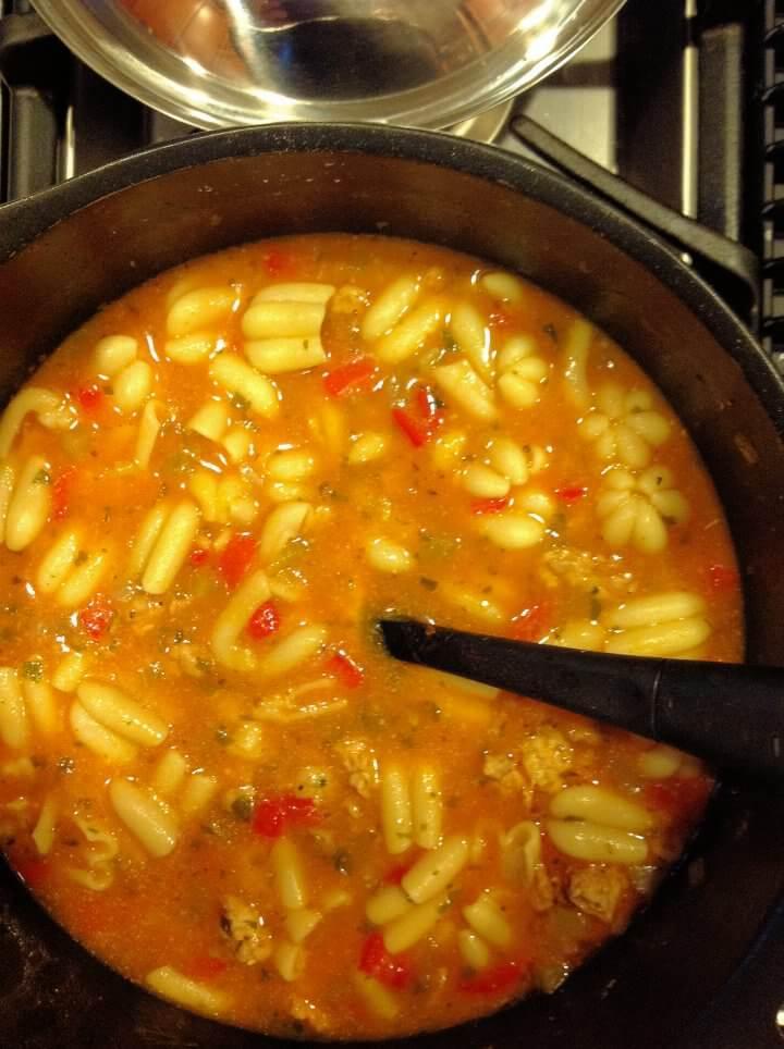 Tomato Chicken Pasta Soup Pot
