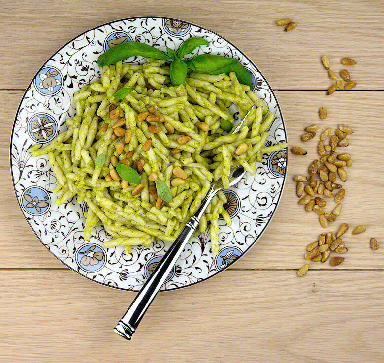 Picture of plate with Trofie Pasta Genovese