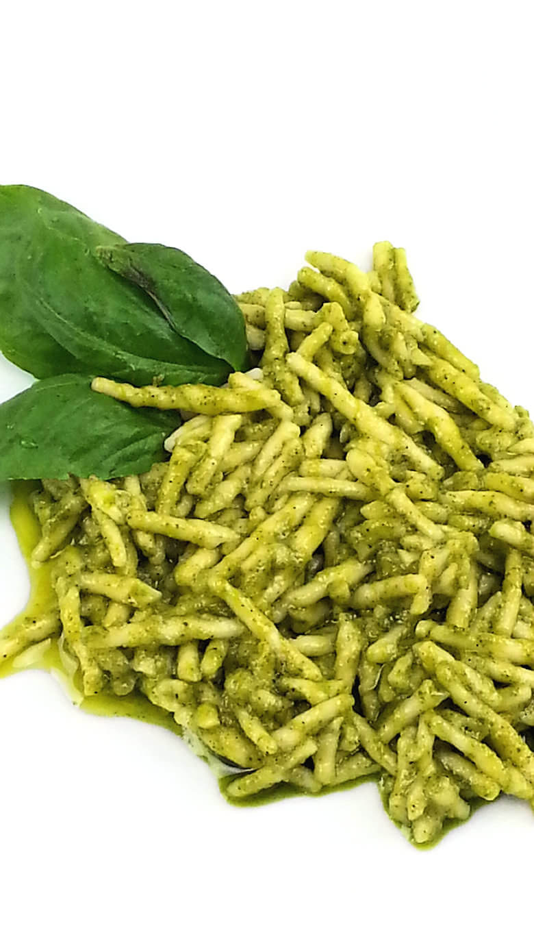 Detailed picture of Trofie Pasta Genovese