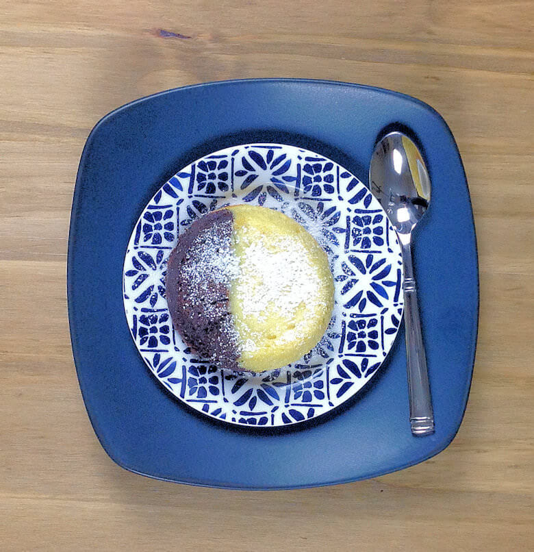 Picture of Two-Tone Flourless Chocolate Souffle