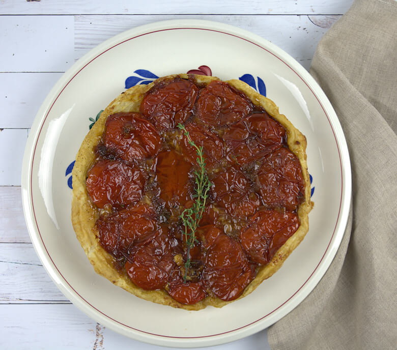 Finished upside down tomato tart