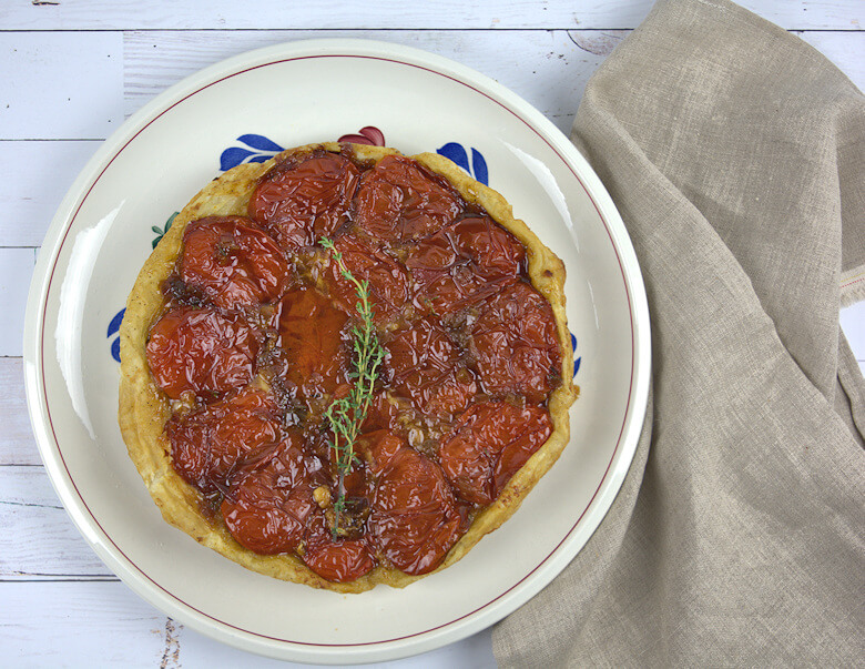 Plated Tomato tart