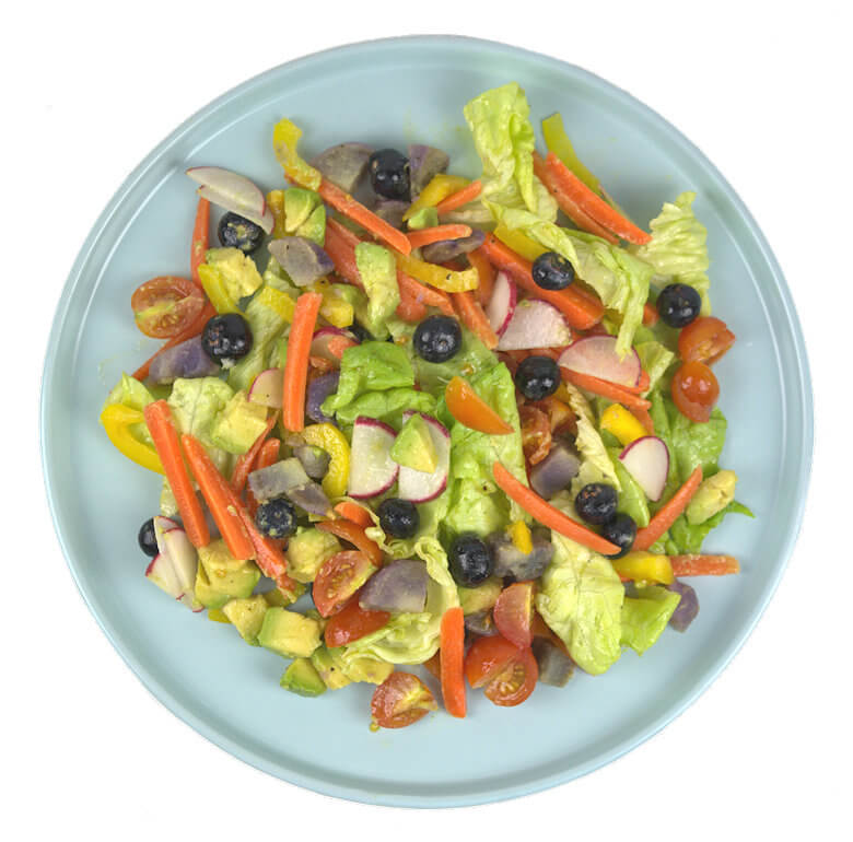 Vegetable and Fruit Rainbow Salad