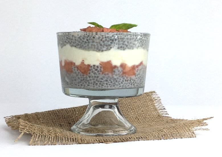 Front picture of Watermelon Feta Dessert with Chia Seeds