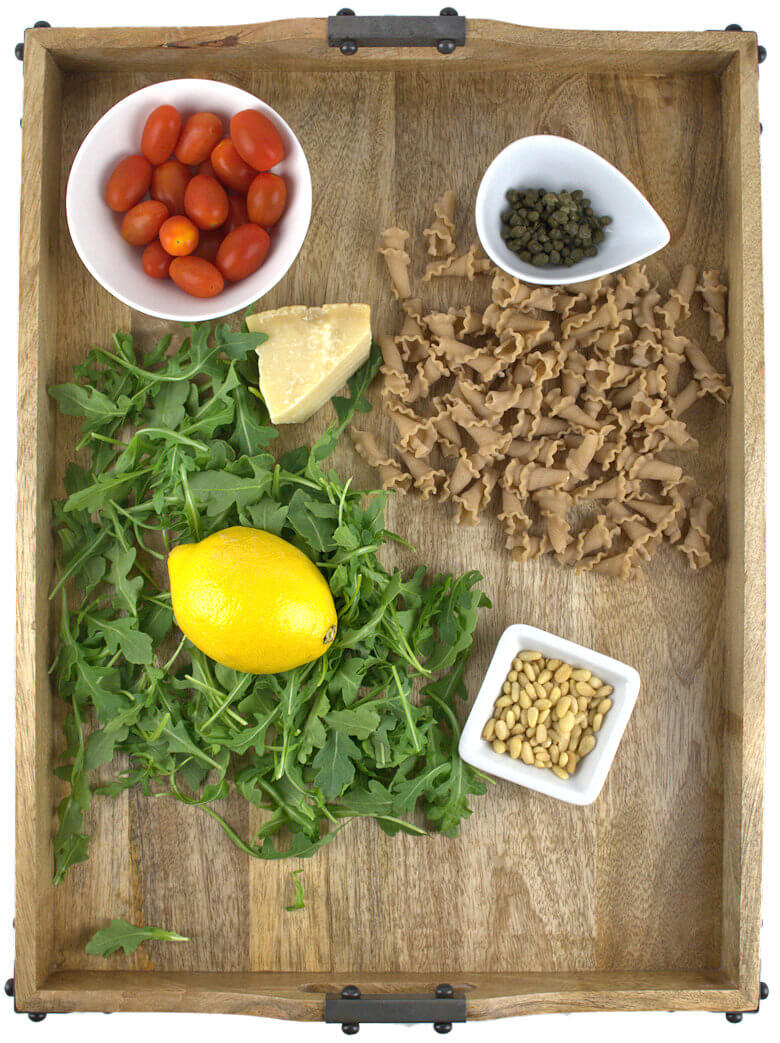 Whole Grain Trumpets with Tomatoes and Arugula2