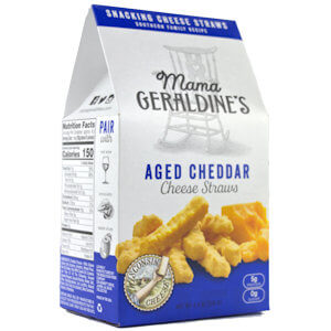 Picture of aged cheddar cheese straws