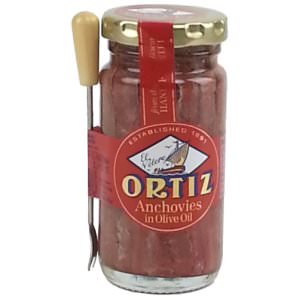 Picture of anchovies in olive oil