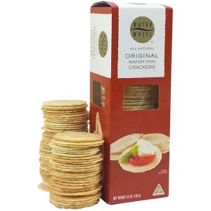 Picture of original wafer thin crackers