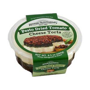 Picture of pesto dried tomato cheese torta