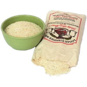 Picture of stone ground speckled white grits