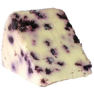 Picture of white stilton with blueberry