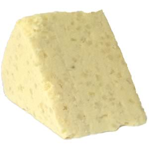 Picture of white stilton with lemon zest