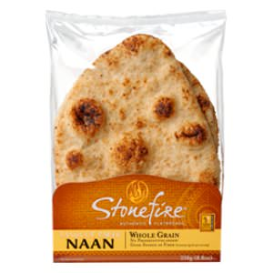 Picture of whole grain tandoori naan