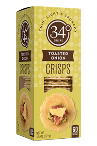 Picture of 34 degrees toasted onion crisps