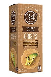 Picture of 34 degrees whole grain crisps