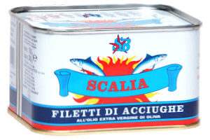 Picture of anchovies in extra virgin olive oil