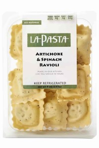 Picture of artichoke & spinach ravioli
