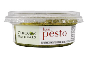 Picture of basil pesto with almonds