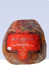 Picture of beech wood smoked ham
