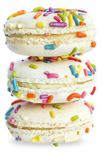 Picture of birthday cake macarons