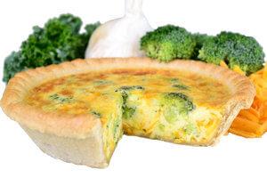 Picture of broccoli and cheddar quiche