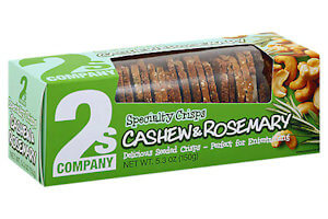Picture of cashew and rosemary crisps