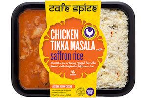 Picture of chicken tikka masala with saffron rice