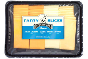 Picture of classic cheeses party slices