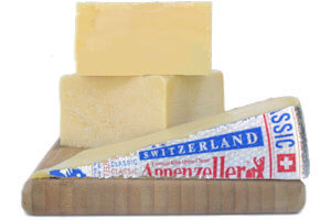 Picture of classic fondue cheese assortment