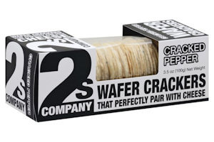 Picture of cracked pepper wafer crackers