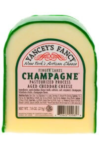 Picture of finger lakes champagne cheddar cheese