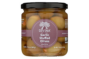 Picture of garlic stuffed olives