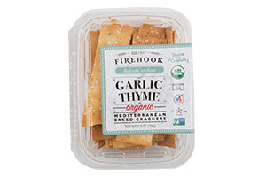 Picture of garlic thyme mediterranean crackers