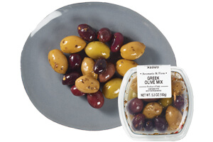 Picture of greek unpitted olive mix