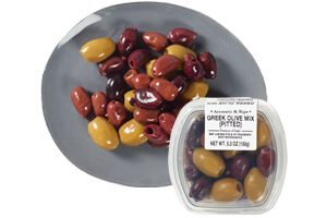 Picture of greek pitted olives mix