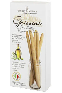 Picture of grissini with extra virgin olive oil
