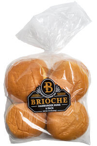 Picture of hamburger brioche buns