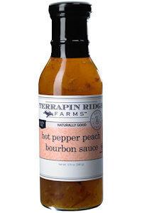 Picture of hot pepper peach bourbon sauce