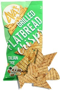 Picture of italian spice grilled flatbread crisps