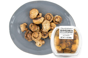 Picture of marinated mushrooms