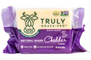 Picture of truly grass fed sharp cheddar cheese