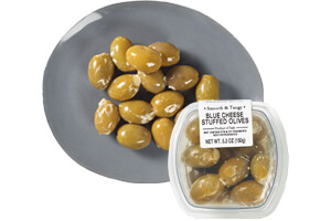 Picture of olives stuffed with blue cheese