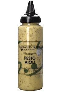 Picture of pesto aioli garnishing sauce