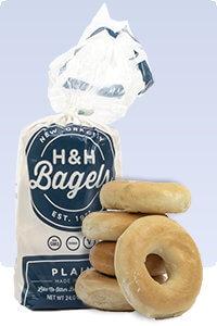 Picture of plain bagels